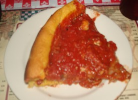 Chicago style deep dish pizza from Gino\'s East