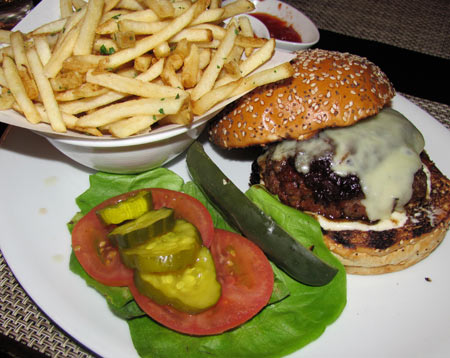 Wolfgang Puck burger at LA Live