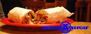 The Triple Threat Burrito at Papalote San Francisco