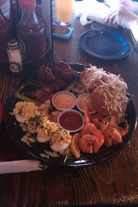 Awesome appie plate at Dinosaur Bar-B-Cue in Harlem