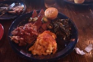 Wade's dinner at Dinosaur Bar-B-Cue in Harlem
