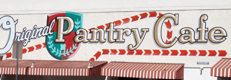 Original Pantry Cafe outside sign