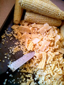 Removing kernels from corn cobs